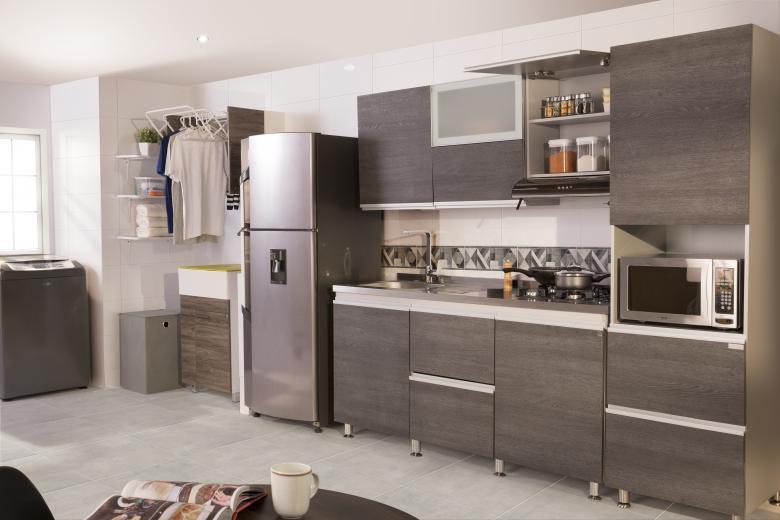 Su cocina integrada al rea de servicios areacaribe for Modelo de cocina integrado